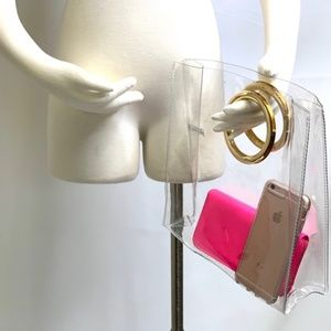 Transparent Double Gold Ring Purse